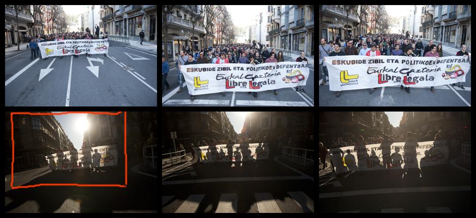 Donostiako 15 gazte auzipeturi babesa eskaintzeko manifestazioa