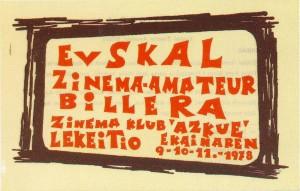 1978, lehen bileraren kartela - Lekeitioko Euskal Zine bileraz